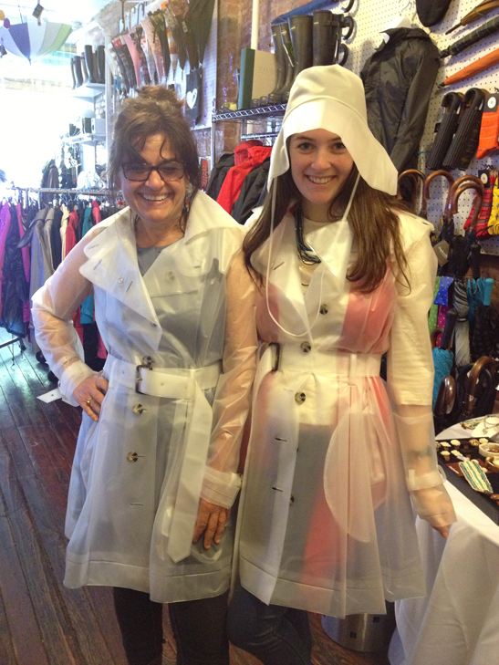 Mom & Daughter in Terra New York's Frosty White Tribecca Trench Coat