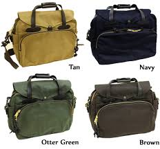 Four great colors to choose from for a Filson Padded Computer Bag.