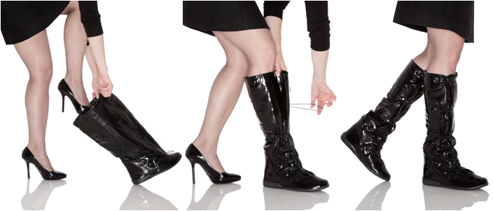 PYSIS - protect your heels from rain and salty snow, while also keeping your legs stylish and warm.