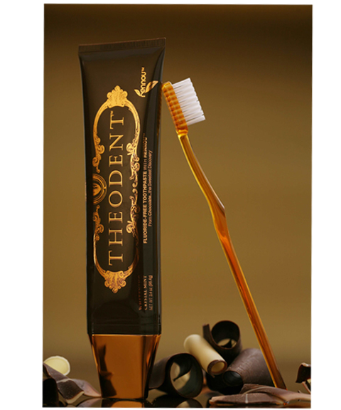 Theodent Tooth Paste.  The grownup version has a minty taste was 110% backup.