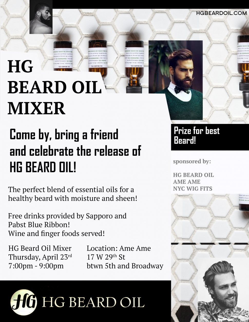 Launch Party for HG Beard Oil!