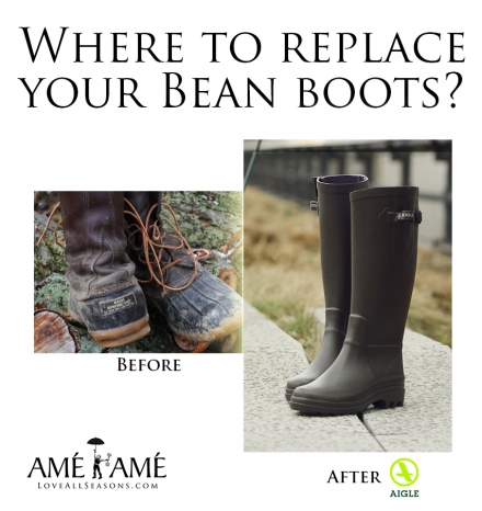 Replace those Bean Boots for Aigle Boots this Spring