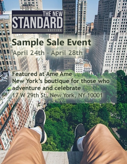 The New Standard Edition Sample Sale At Amé Amé