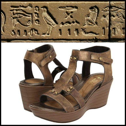 Hard to Find Bronze Colored Leather Naot Valencia Platform Sandals