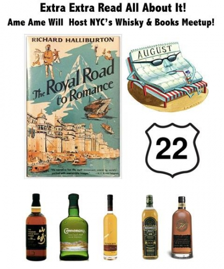 NYC MeetUP Whiskey & Books Will Host at Ame Ame!