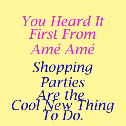 Make Your Next Visit  a Shopping Party!
