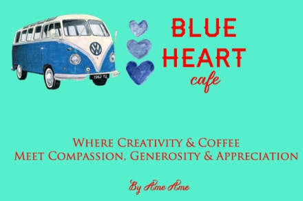Blue Heart Cafe by Ame Ame